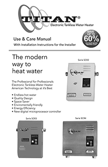 titan�-scr3 electronic tankless water heater